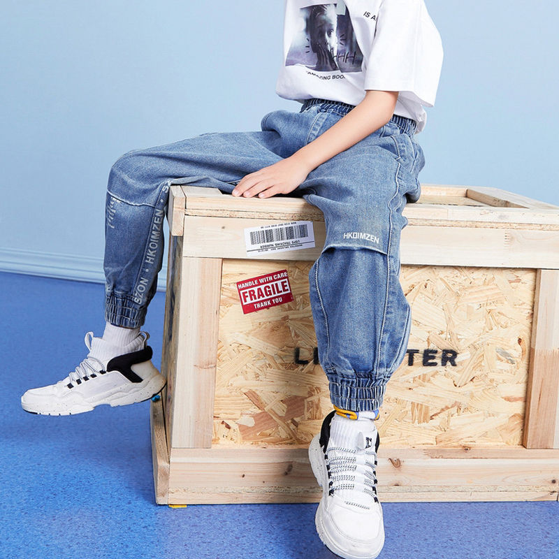 2021 Fashion Boys Girls Jeans Big Boys Spring And Autumn New Boys Casual Pants Children Pants