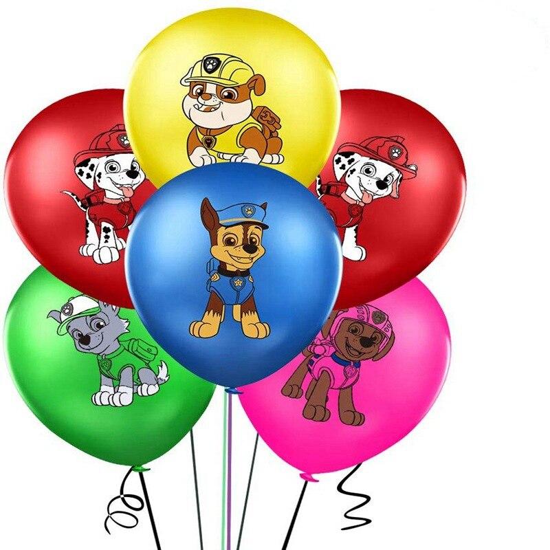 10 pièces patte Latex ballons patrouille chien Ballon joyeux Brithday décoration enfants jouet fournitures bébé showe Globos