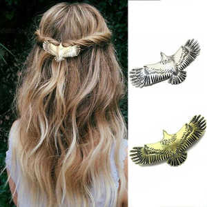 Accessories Hairpin Raven Women 1pc Pin Eagle Alloy Long Medieval Hair