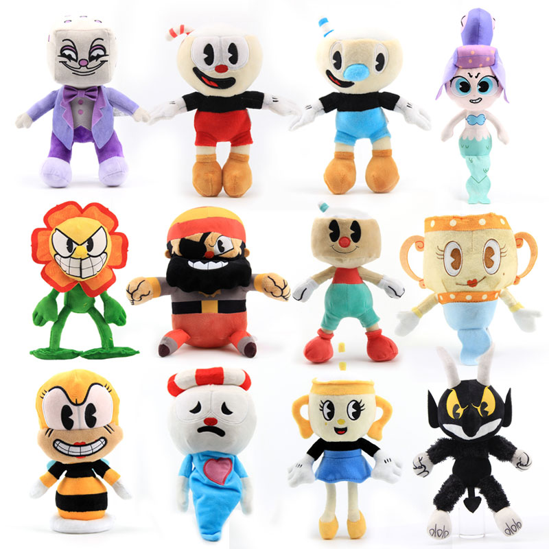 35cm plush toys the simpsons family bart son daughters lisa cartoon movie doll peluche stuffed plush toys gifts for children 13 style Cuphead Plush Doll Toys Mugman The Chalice Soft Plush Stuffed Toys Cute Cartoon Doll For Kid Children Christmas Gifts