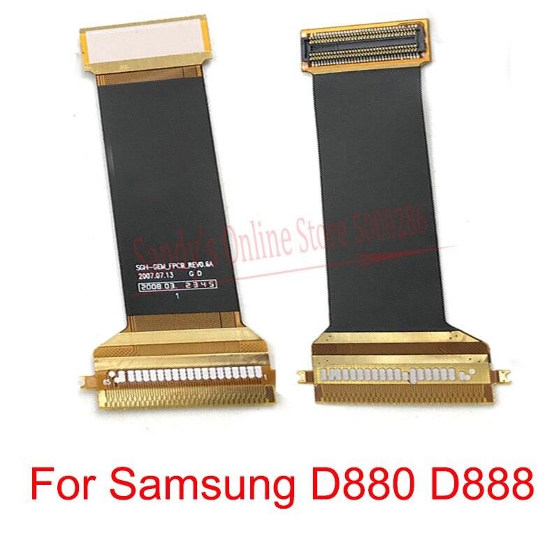 Placa principal placa-mãe cabo flexível conector fita para samsung d880 d888 mainboard principal flex peças de reparo substituição