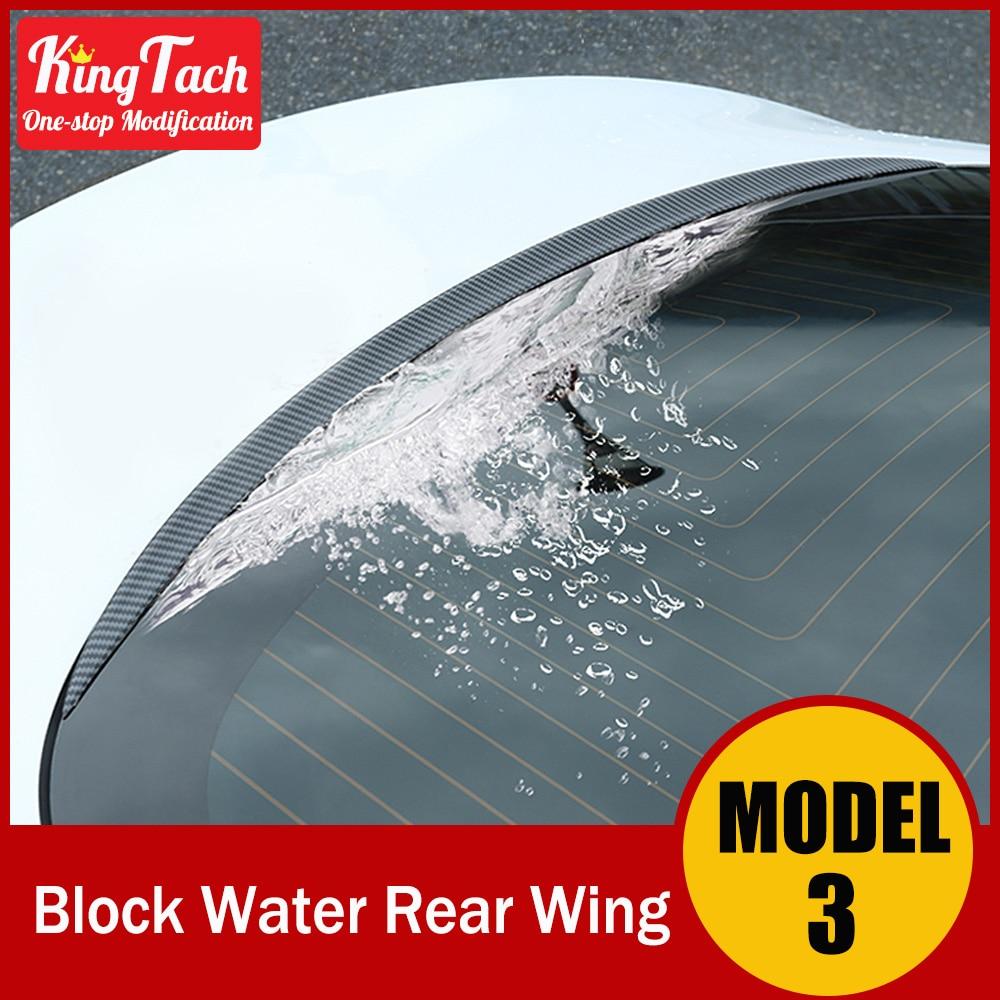 Ala trasera de bloque de agua para Tesla Model 3 Material ABS diseño de fibra de carbono accesorios modificados