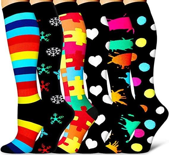 Wholesale Compression Socks Men 3/5/6/7 PAIRS/SET Birthday Gift Compression Sports Socks Women