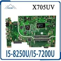 akemy mainboard for asus vivobook 17 x705udr x705uq x705uv x705ub x705ud x705u n705u laptop motherboard i5 8250ui5 7200u