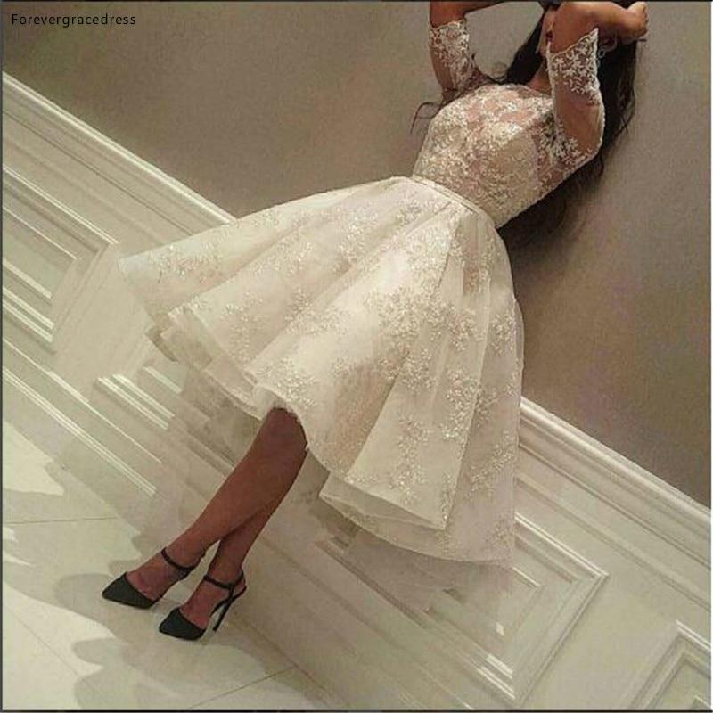 فستان كوكتيل دانتيل قصير بأكمام قصيرة تصميم عصري عربي فستان رسمي للحفلات المسائية مصنوع حسب الطلب بمقاسات كبيرة