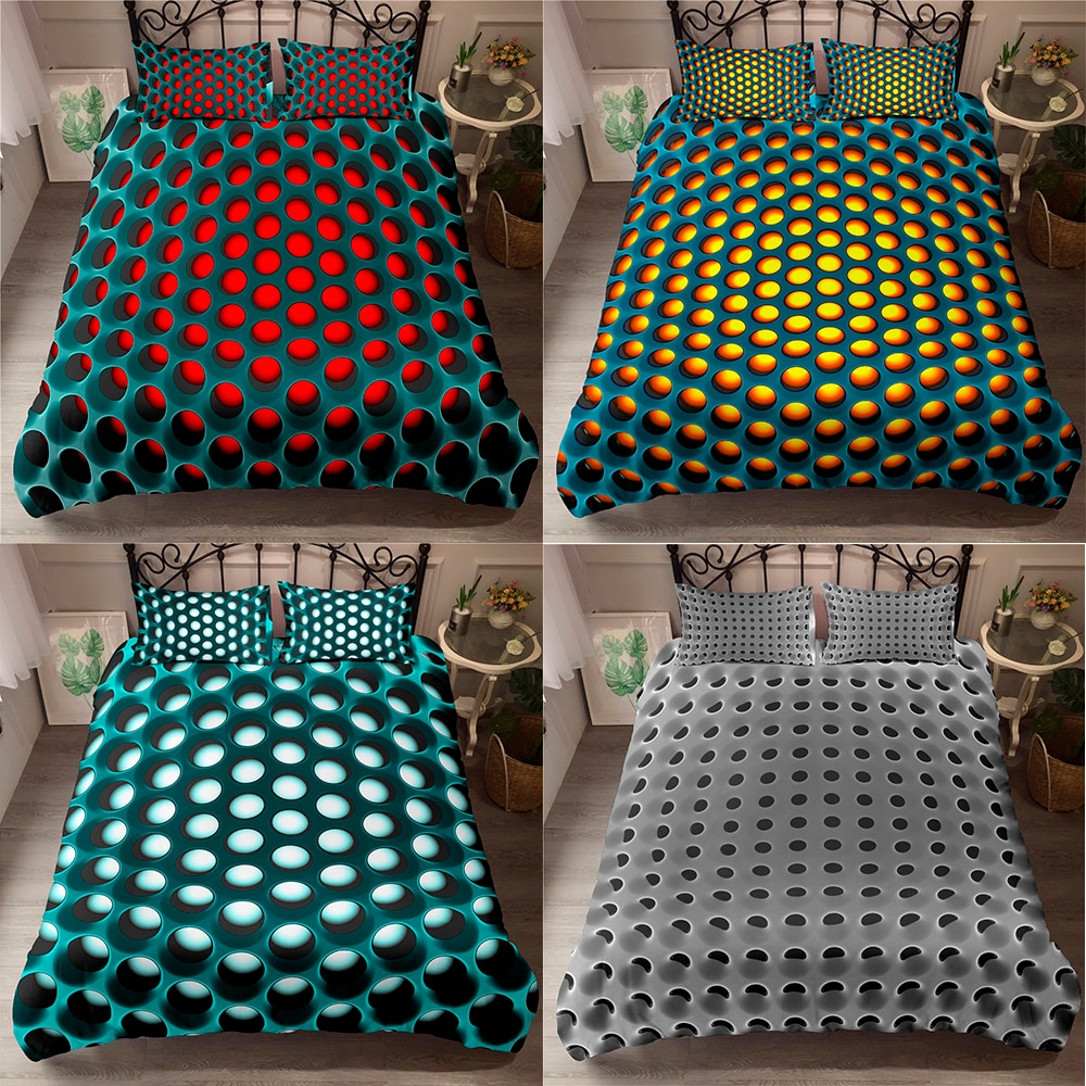 3D Bedding Sets Geometric Duvet Cover Pillowcase 2/3pcs Twin Queen King Size Bed Clothes for Home Textiles 2021 3d digital print game handle bedding sets pillowcase 2 3pcs queen cute bed set for children game duvet cover young man