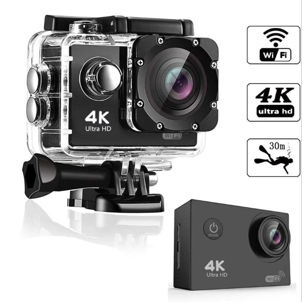 عمل كاميرا الترا HD 4K 30fps واي فاي 2.0 بوصة 170D تحت الماء كاميرا مقاومة للماء خوذة تسجيل الفيديو كاميرات كاميرا رياضية