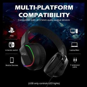 Image 3 - Игровая гарнитура EKSA E400, проводные 3D наушники с RGB подсветкой и микрофоном для ПК, PS4, Xbox One, Nintendo, телефона