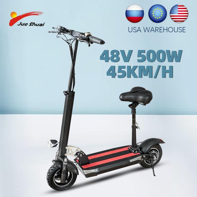 Plegable Scooter adulto eléctrica monopatín eléctrico de 500W E-Scooter de luz LED...