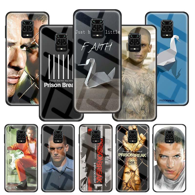 Побег из тюрьмы чехол для Xiaomi Redmi Note 9S 9 8 8T 8A 7 9A 9C Mi A3 9T CC9 CC9E Poco X2 Pro Honor 8Lite стеклянная крышка