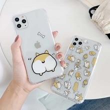 Japan Shiba Inu Akita Dog Cute Cartoon Phone Case For iPhone11 11pro 7 8 Plus X Xs Max Xr Clear Soft Silicone Cover Fundas Capa