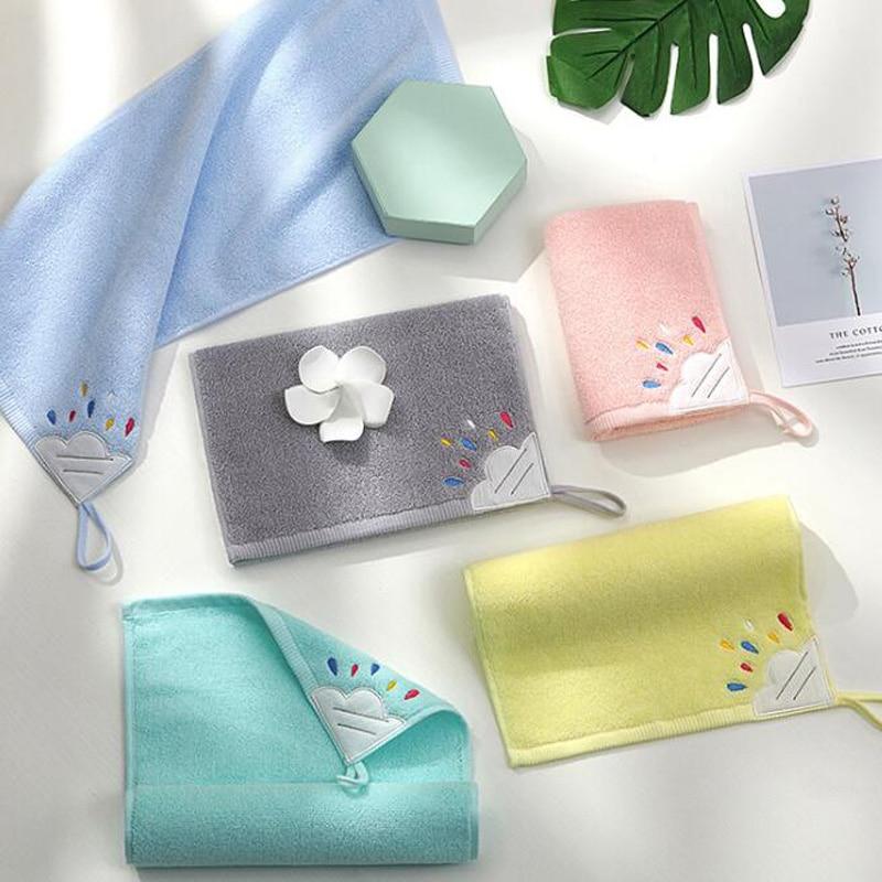 2 unidades/pacote 25x50cm toalhas de rosto pequenas macio algodão mão cabelo toalhas de banho saudável crianças adultos uso da família