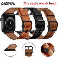 genuine leather cowhide ds watch band for apple watch 38mm 40mm 42mm 44mm replacement strap for iwatch se series 6 5 4 3 2 1