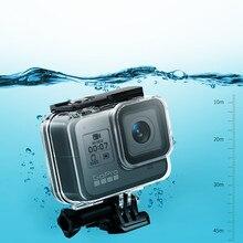 Boîtier étanche pour Gopro 8 verre trempé pour Gopro 8 accessoires pour Gopro Hero8 boîtier de couverture noir