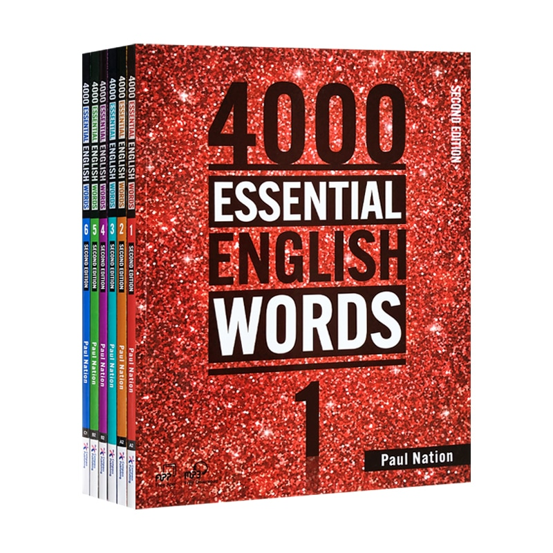 New 6 Books/Set 4000 Essential English Words Level 1-6 IELTS, SAT Core Words English Vocabulary Book Kids Learn To Write