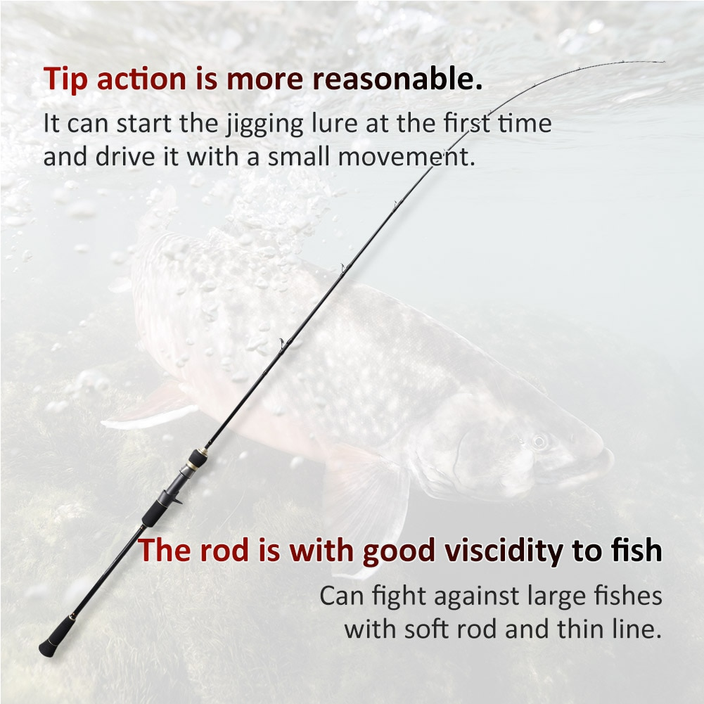 Noeby Full Solid Slow Jigging Fishing Rod 1.68m 1.83m 1.96m M ML Power High Tonnage Sensitivity Carbon Spinning Casting Sea Rod enlarge