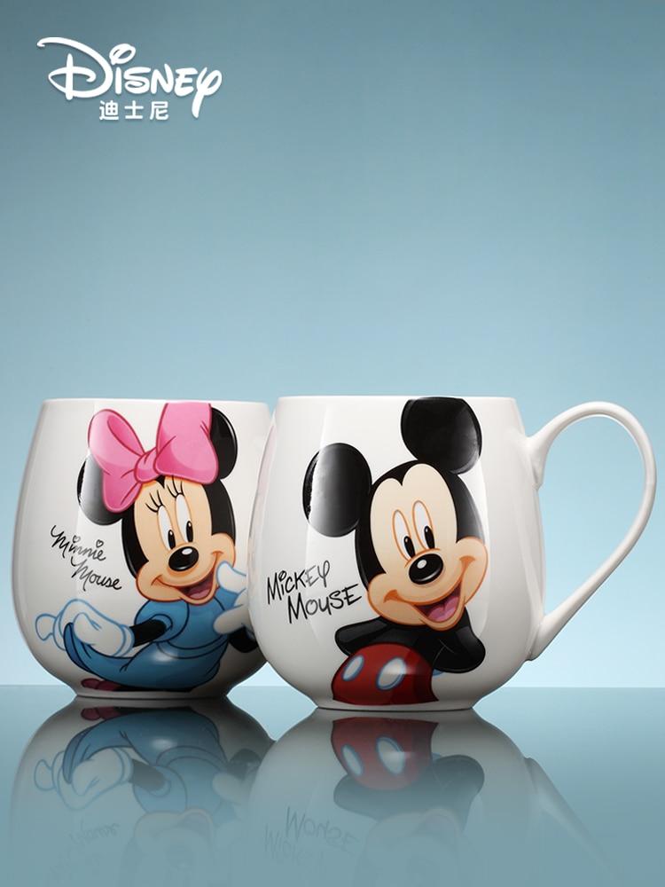 original disney desenhos animados leite cafe da manha bonito copo mickey familia
