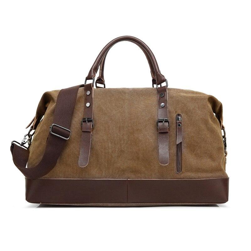 Дорожная сумка, багажная сумка, повседневная Холщовая Сумка, сумка на одно плечо, дорожная сумка-мессенджер двойного назначения, сумка для в...