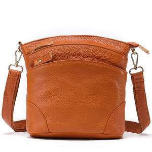 Women's Shoulder Bag Female Genuine Leather Bags for Women Messenger Bags Small Leather Shoulder Crossbody Bag Flap Bag