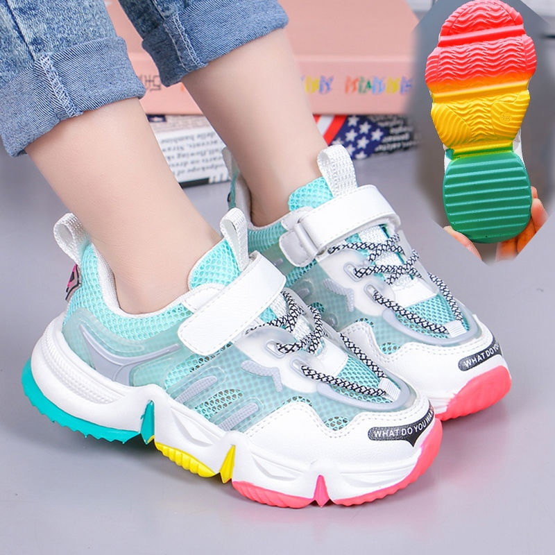 2021 Brand New Sneakers Kids Sport Shoes Casual Children Girls Sneakers Running Child Shoes Chaussure Enfant for Girls Fashion