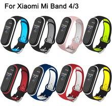 Correa pour Xiaomi Mi bande 4 sangle Silicone Bracelet Bracelet pour Xiaomi bande 4 3 Mi band4 Miband 4 bracelets pour Mi bande 4 3