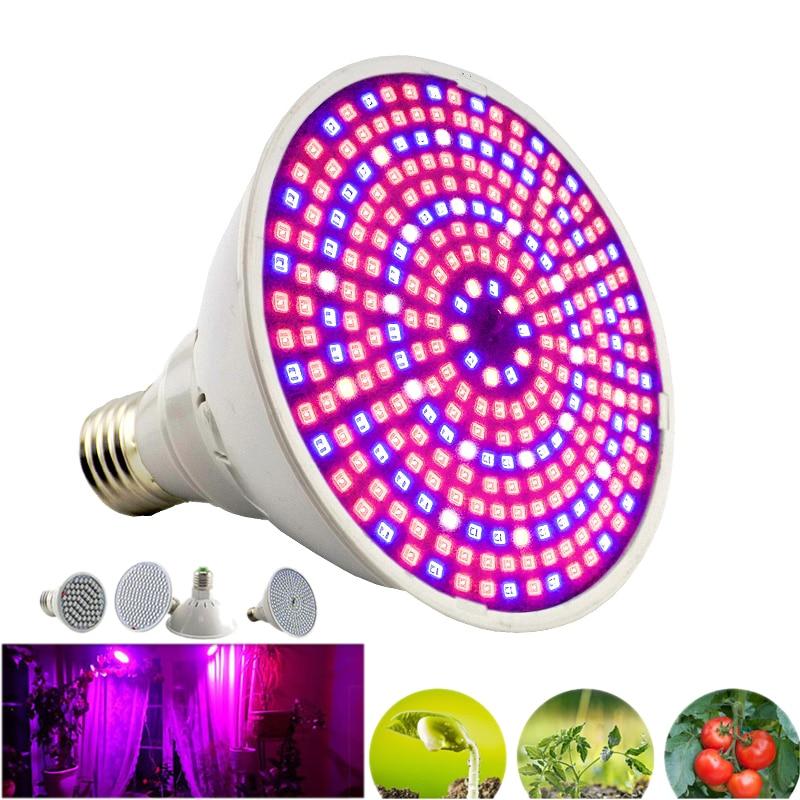 Светодиодные лампочки полного спектра E27 для выращивания растений, лампа s для комнатных гидропонных систем, комнатных культиваторов, овоще...