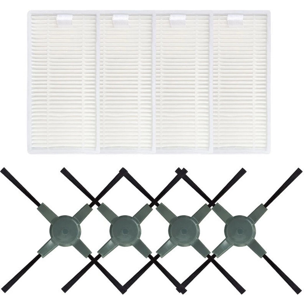 8Pcs Side Brushes +Filter Kits For QQ5 Vacuum Cleaner Replacement Accessories Cleaning Parts Replacement Tools