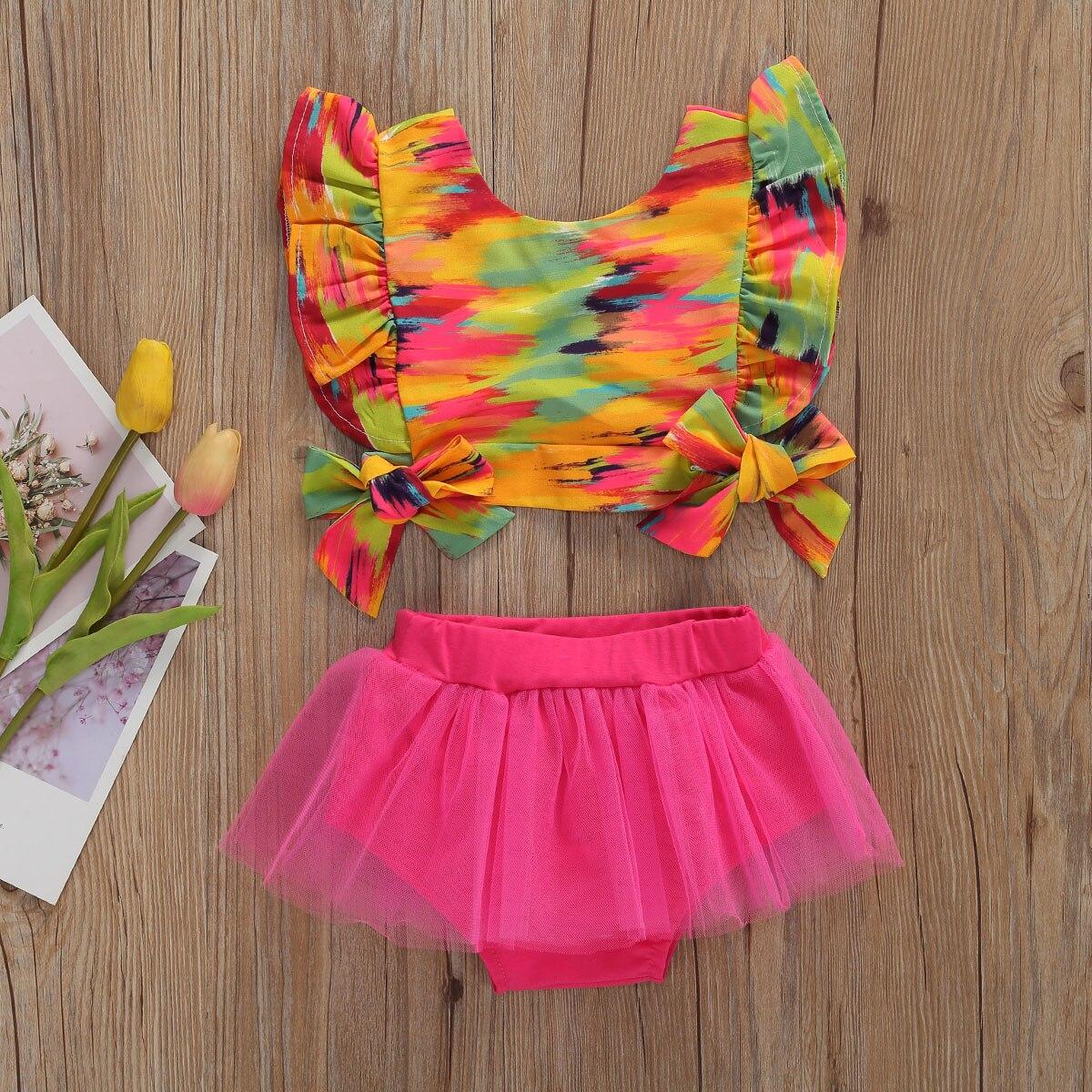 Emmababy, conjuntos de ropa de verano para bebés y niñas, camisetas de manga corta con estampado de camuflaje y volantes, conjunto de camisetas y pantalones cortos de 0 a 12M