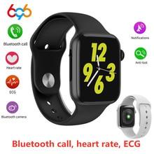 696 W34 Bluetooth çağrı akıllı saat ekg nabız monitörü iwo 8 lite için Smartwatch Android iPhone xiaomi bant PK iwo 8 10 11 12