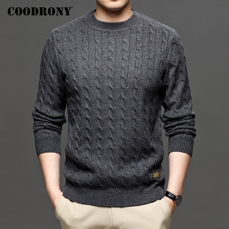 COODRONY Brand Sweater Men Streetwear Fashion Knitwear Jumper O-Neck Pullover Clothing Autumn Winter Casual Sweaters C1191