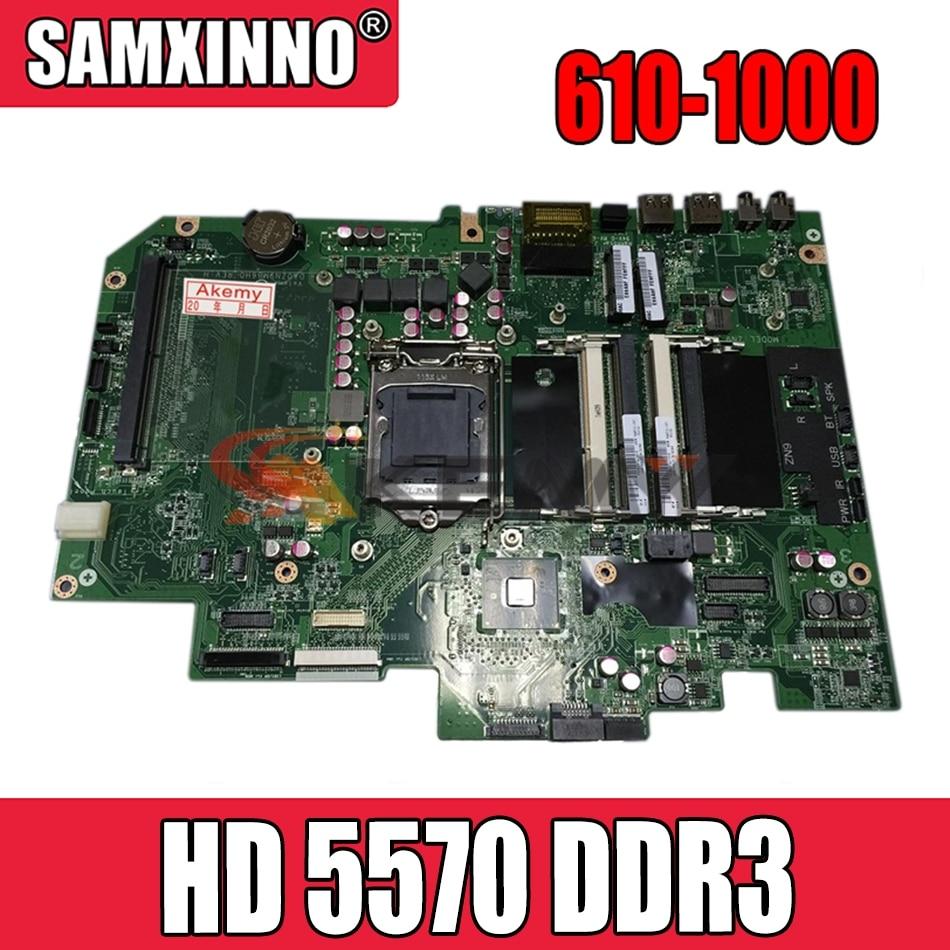 Akemy لوحة رئيسية لأجهزة HP الكمبيوتر المحمول TouchSmart 610 648512-001 DA0ZN9MB6H0 REV H A57 ATI Radeon HD 5570 DDR3 اللوحة الأم