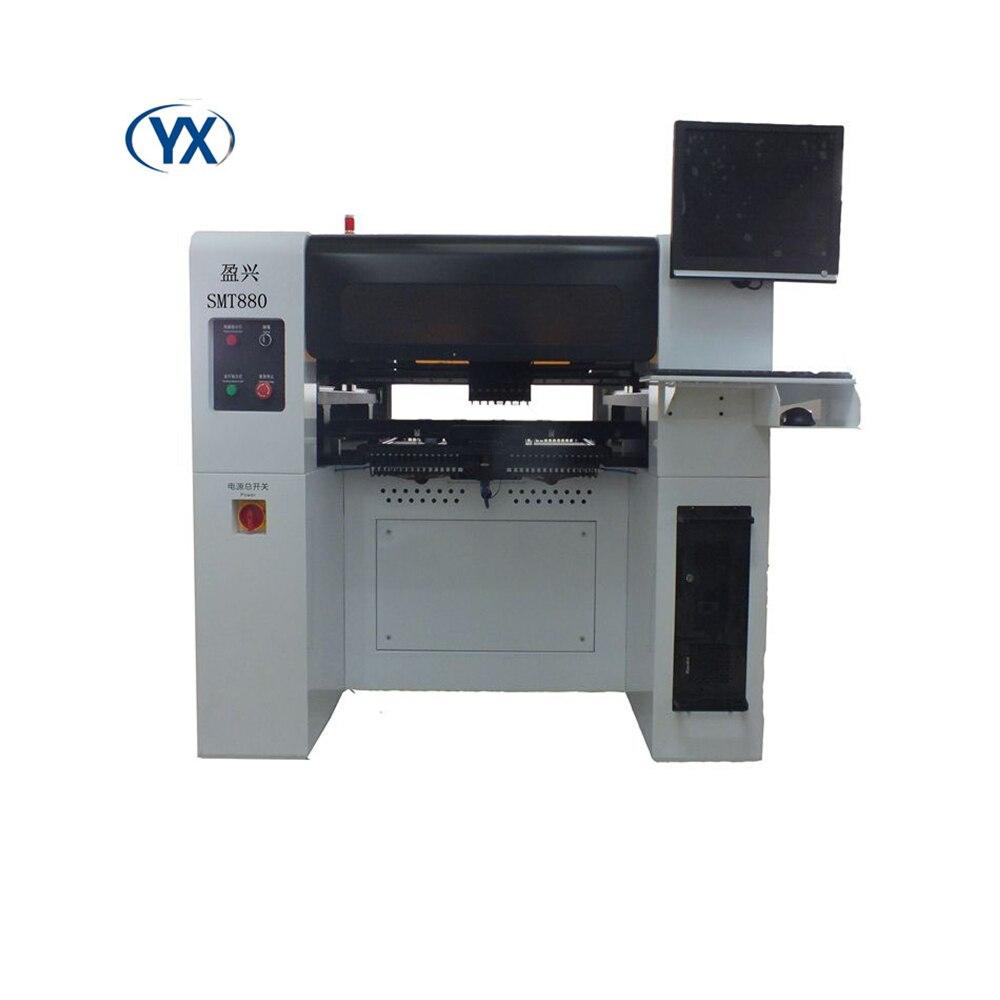 Máquina de recogida y colocación automática de 8 cabezales SMT880, componentes SMD, máquina de montaje LED Smt 0402,0201,0805,1206,BGA