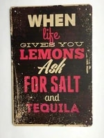 new vintage metal tin sign funny when life gives you lemons garage street home bar hotel kitchen wall art decoration signs metal