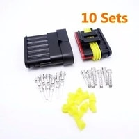 10 sets 6 pins awg connector waterproof plug 1 5series femalemale car connector