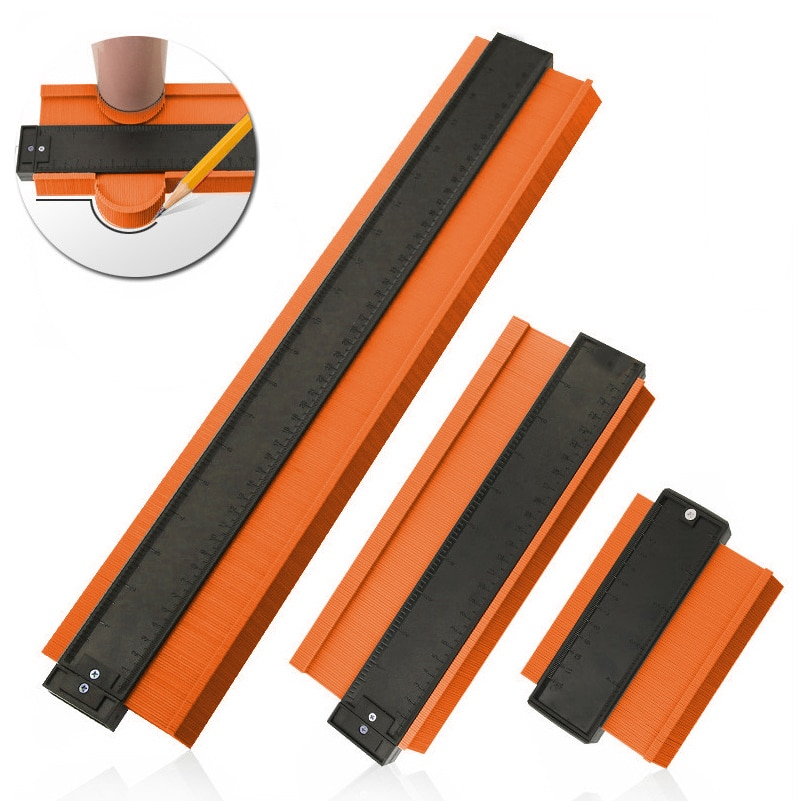 AliExpress - NEW Multifunction Contour Profile Gauge Tiling Laminate Tiles Edge Shaping Wood Measure Ruler ABS Contour Gauge Duplicator
