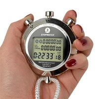 waterproof digital stopwatch metal 11000 seconds handheld lcd display chronograph outdoors timer counter sports watch relogio