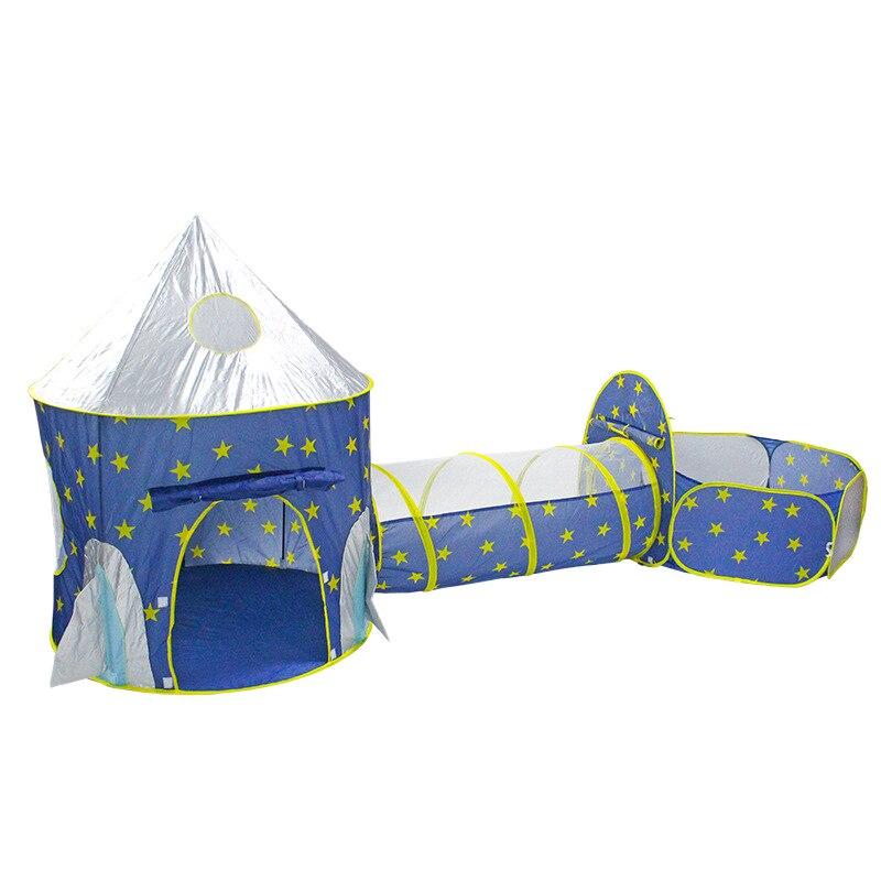 Los niños de 3 en 1 tienda nave espacial tienda yurta juego carpa House Play bola plegable en piscina juego tienda