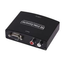 VGA vers HDMI Audio vidéo adaptateur convertisseur boîtier VGA + R/L vers HDMI avec Audio 1080P pour HDTV projecteur moniteur PS3