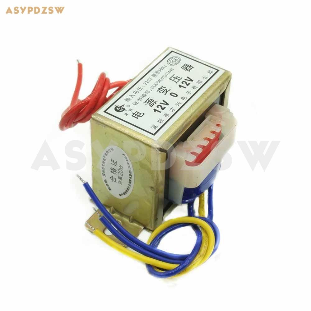 20VA 220В 50Гц до 12V-0-12V EI трансформатор 20 Вт усилитель мощности трансформатор