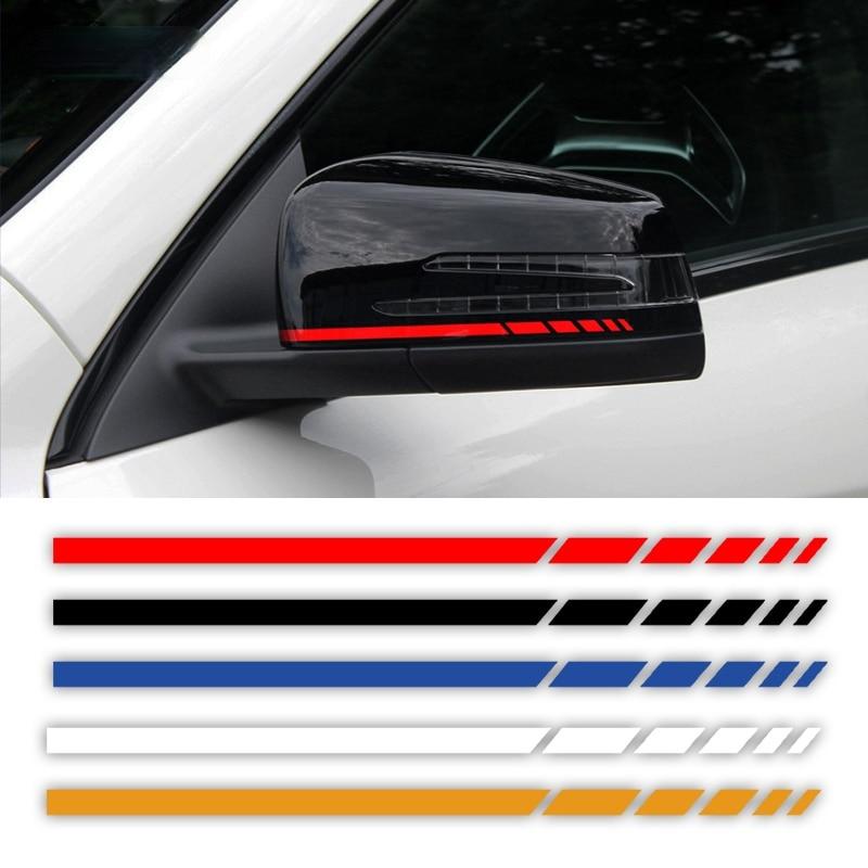 Pegatina de vinilo para espejo retrovisor de Mercedes Benz, pegatina de rayas...