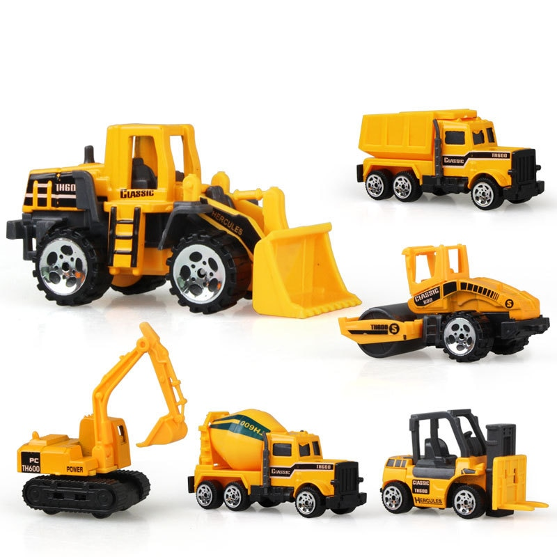 Mini Alloy Diecast Car Model Engineering Toy Vehicles Dump Truck Forklift Excavator Model Car Mini Gift For Kids Boys недорого