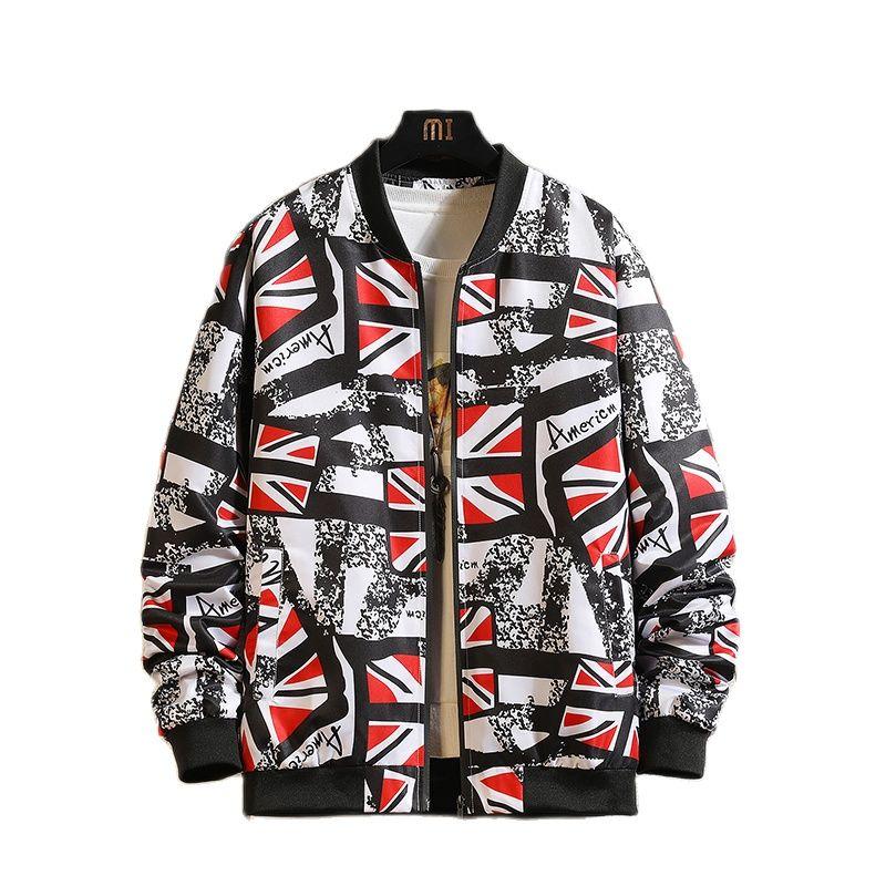 Мужская куртка весна-осень 2021 в основном стимулирует куртку с принтом и популярным логотипом
