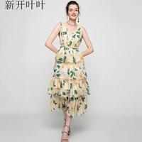 light green yellow v neck floral summer girls dresses women long casual sexy office work robe femme bohemian dress plus size