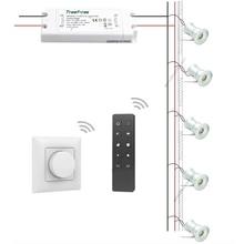 Intelligent Mini Spotlight Kit 1W 12V LED + Triac Dimmable Transformer + Dimmer Remote SPA Sauna Showcase Deck Lighting