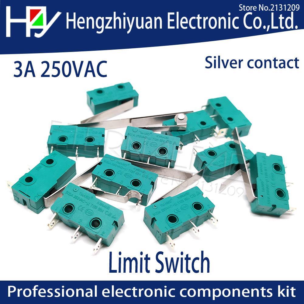 Hzy Mini  Micro Switch Roller Lever Arm SPDT Snap Action LOT 5A 250V KW4-OZ KW4A NC-NO-C With Pulley 3 Feet Stroke Limit Switch chint travel switch yblx jw2 11z 3 limit switch