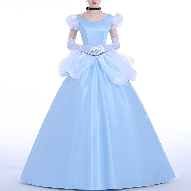 يتوهم هالوين تأثيري سندريلا زي الكبار النساء فستان الأميرة كرنفال عيد الميلاد الكرة ثوب للفتيات