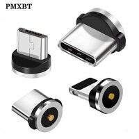Круглый Магнитный кабель с разъемами типа C Micro USB C, 8 контактов, Магнитный зарядный штекер для iPhone (только магнитный штекер)