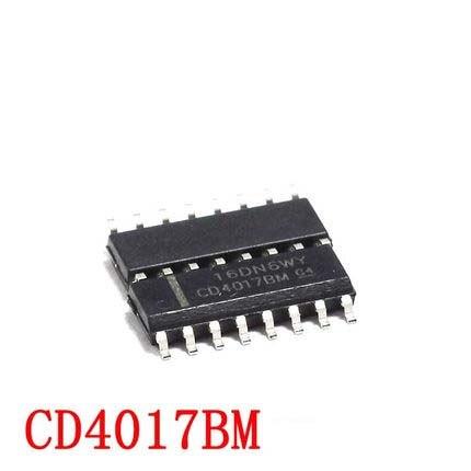 Jeu de puces IC originales et nouvelles, CD4017BM SOP16 CD4017B SOP CD4017 4017 SOP-16 SMD, 10 pièces