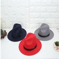 2020 new fashion men fedoras womens fashion jazz hat summer spring black woolen blend cap outdoor casual hat