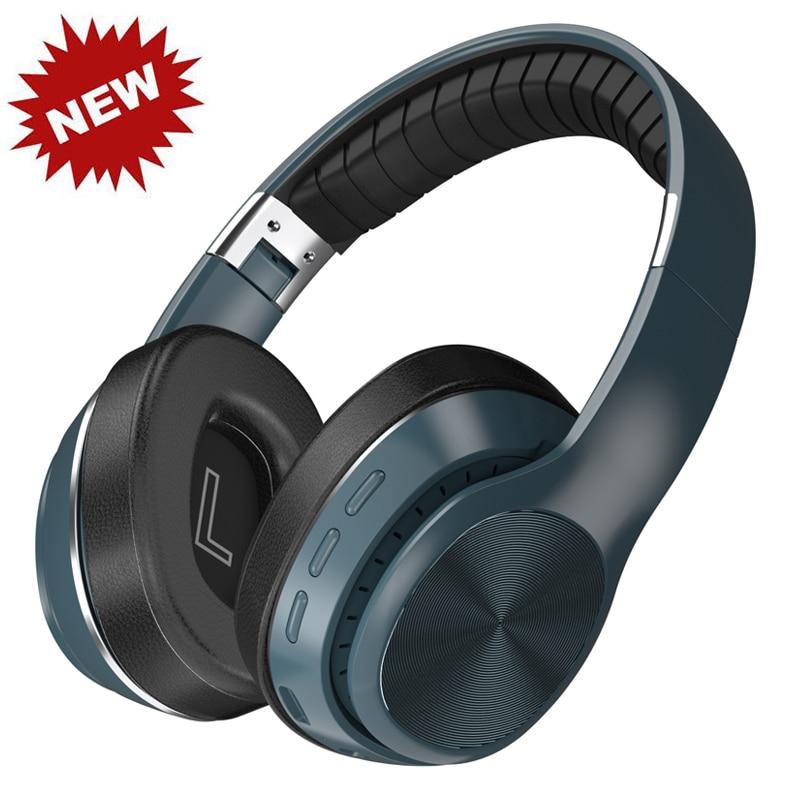 سماعة لاسلكية تعمل بالبلوتوث سماعات رأس قابلة للطي تدعم TFCard/راديو FM/بلوتوث AUX وضع ستيريو HiFi سماعة رأس مزودة بميكروفون عميق